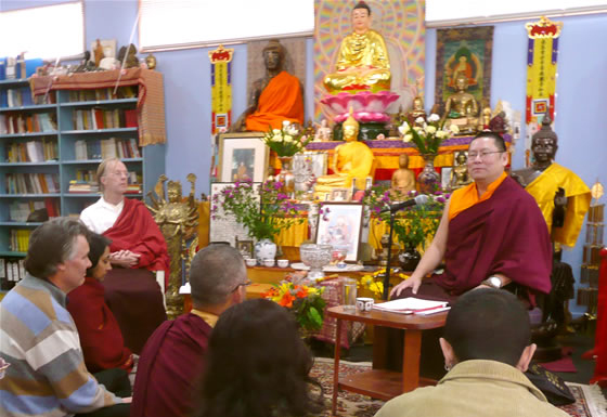 Lama Dondrup Dorje teaching at the Chan Academy in Upwey, Australia