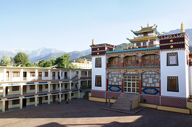 Nyingmapa Buddhist Monastery in Bir, India