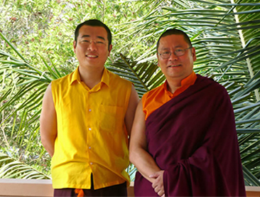 Lama Dondrup Dorje with HE Tulku Gyangkhang Rinpoche
